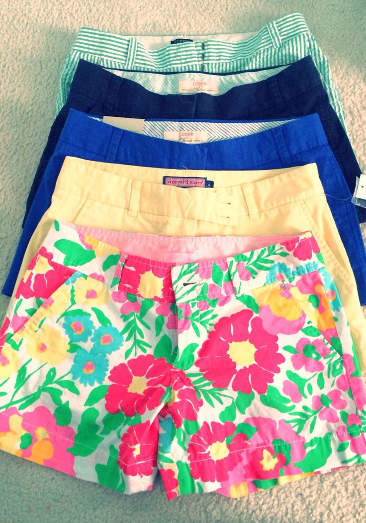 Love all of these shorts, but would definitely need help picking out great shirts to go with them!