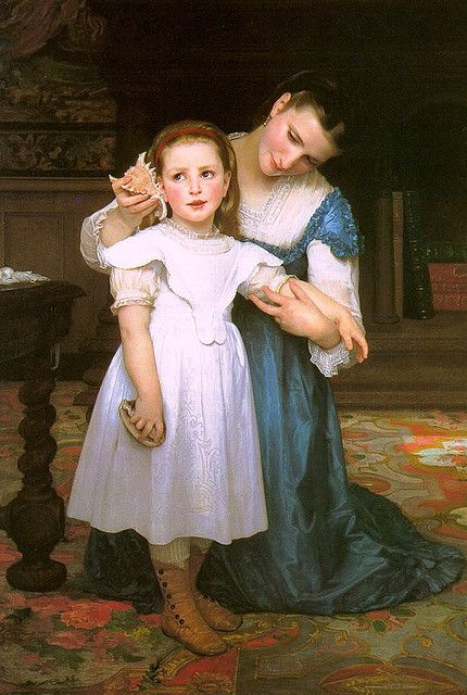 ( The Shell ) By : William Bouguereau, 1871