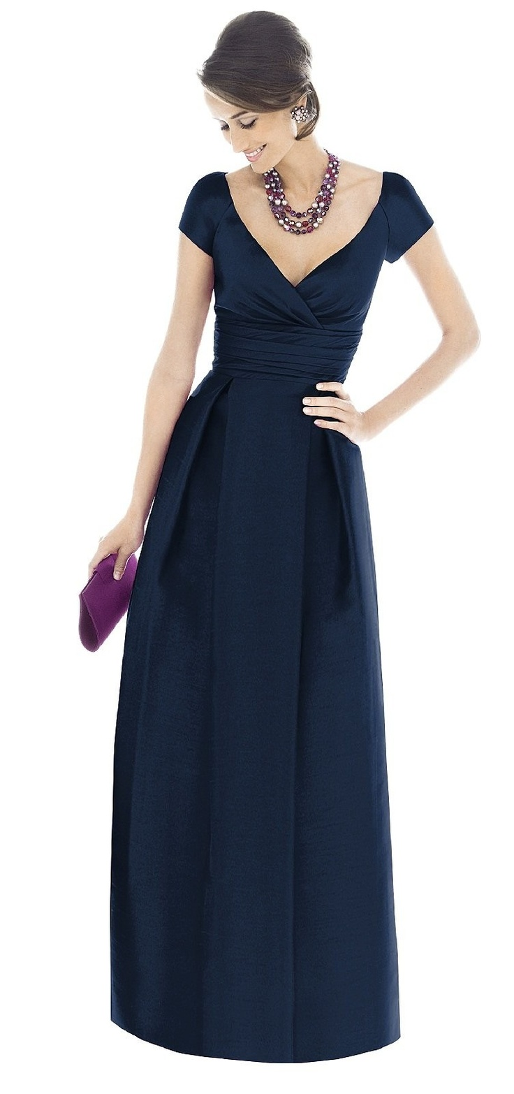 Alfred Sung Style D503 Bridesmaid Dress in Electric Blue