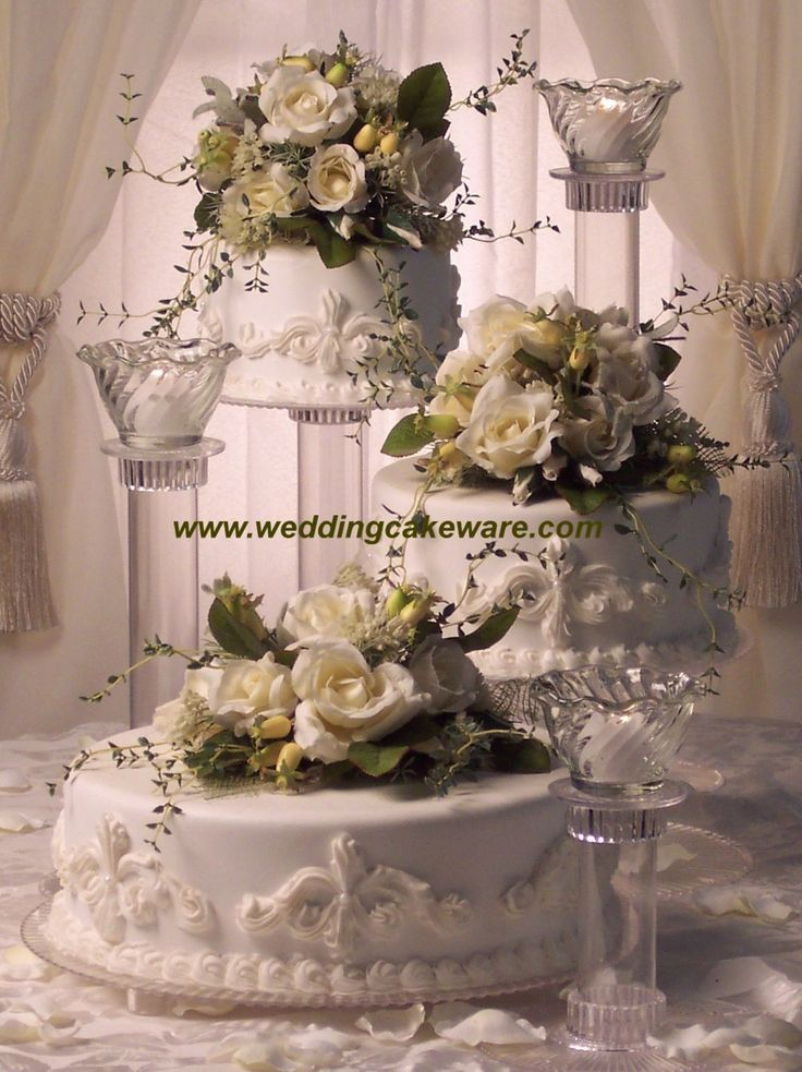 4 tier cascading wedding cake stand stands set best 25 3 tier wedding cakes ideas on tiered 10371