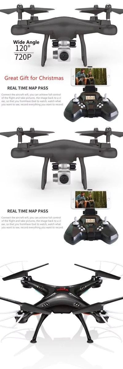 Wifi fpv Remote Control RC Drone S10 with 720P Wide Camera Headless Mode One-key Return Remote Control RC -$49.14