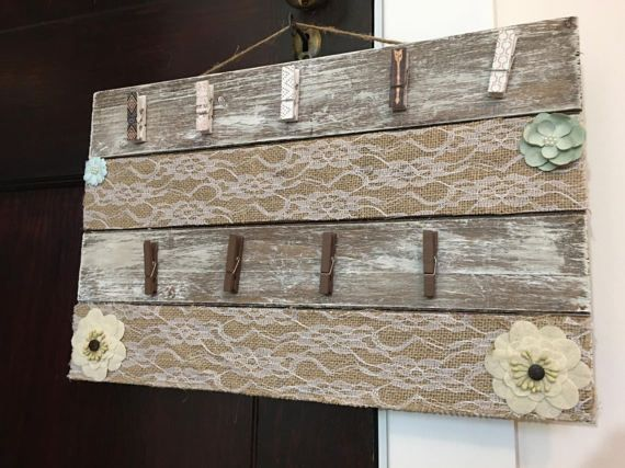 Clothes pin pallet sign picture holder pallet picture display