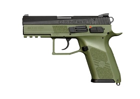 This CZ P-07 Duty is the perfect shade of green. I mean, just look at it. I handled the black version and it felt great, but I'm holding out until I can get a green one.