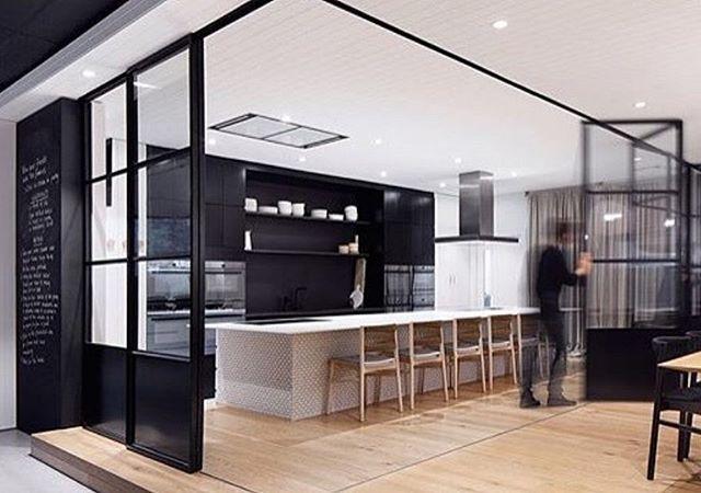 Bifold steel doors ...definitely on my favourites list. ✔ Amazing design by…
