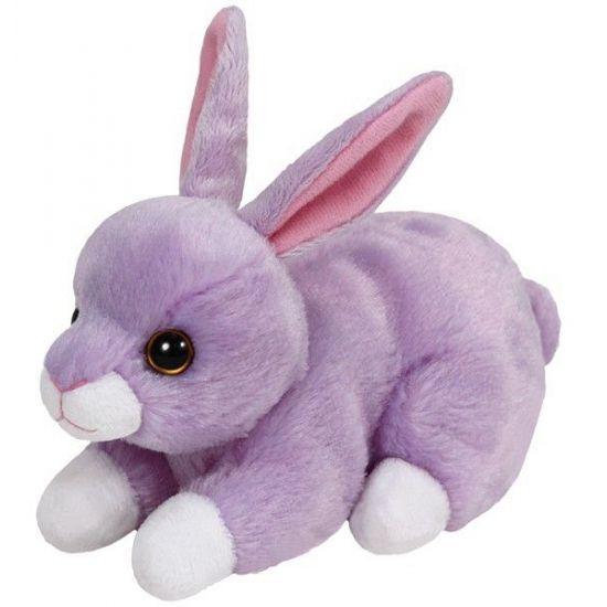 Pluche Ty Boo konijn Lilac 15 cm. Een zacht paars pluche konijn van ongeveer 15 cm groot.