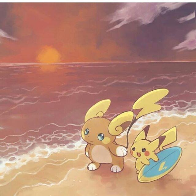Raichu (Forma Alola) & Pikachu