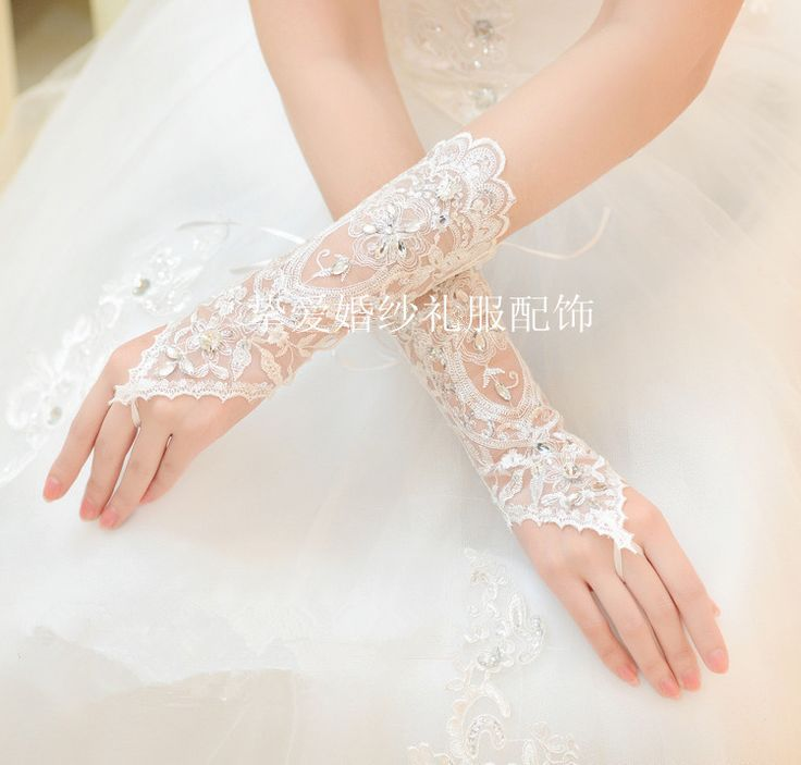 Aliexpress.com: Koop Hot Selling Gehaakte Bruids Handschoenen Strass Wit Pailletten Handschoenen Holle Trouwjurk Accessoires van betrouwbare accessoires trouwjurk leveranciers op orientwedding