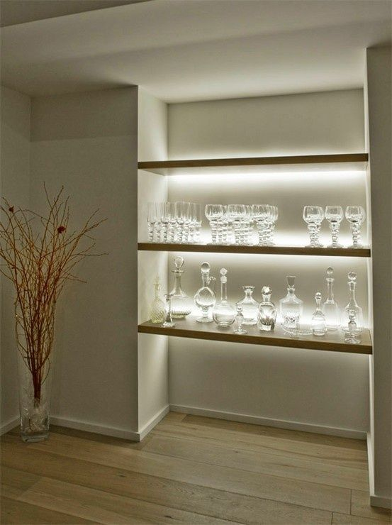 Shelving accent lights. LED