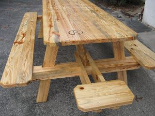 Rectangular With End Seat Picnic Table Plans Pinterest