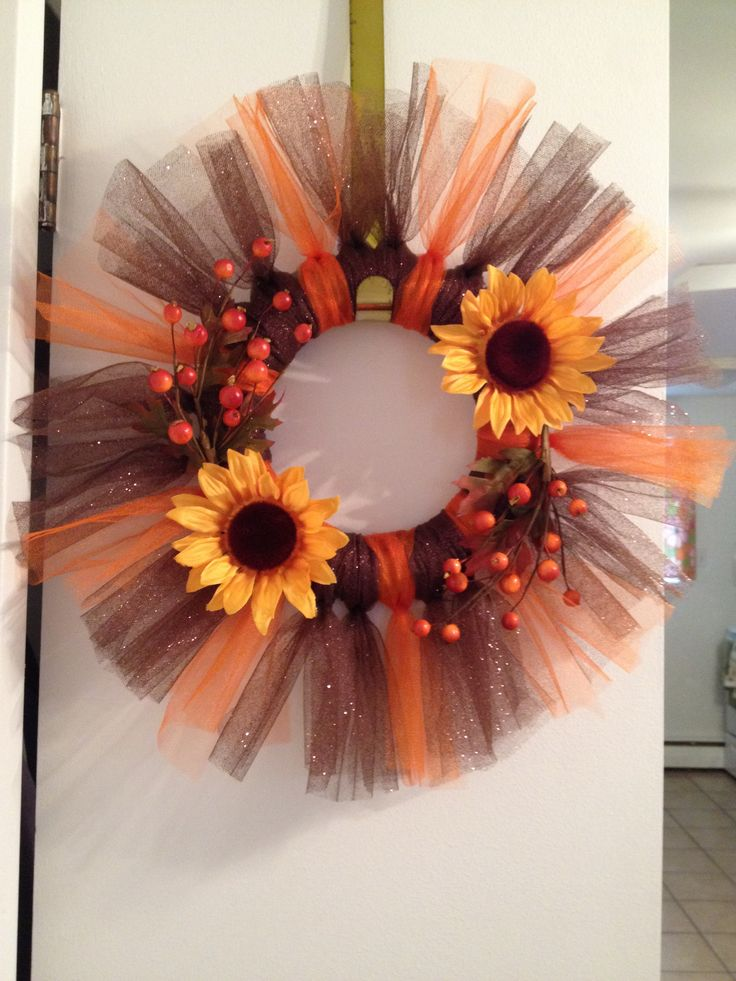 Fall Tulle Wreath | Olivia Cortese
