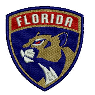 Florida Panthers Hockey Team Embroidered Patch $6.25. FREE SHIPPING!