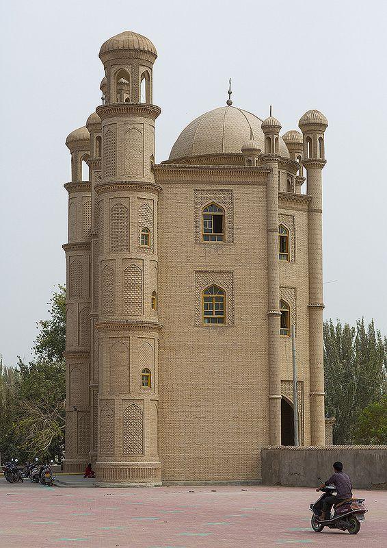 ˚Mosque, Keriya, Xinjiang Uyghur Autonomous Region, China