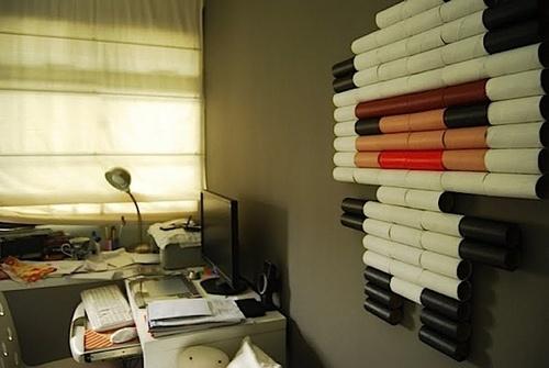 PixelArt from Toilet Paper Rolls