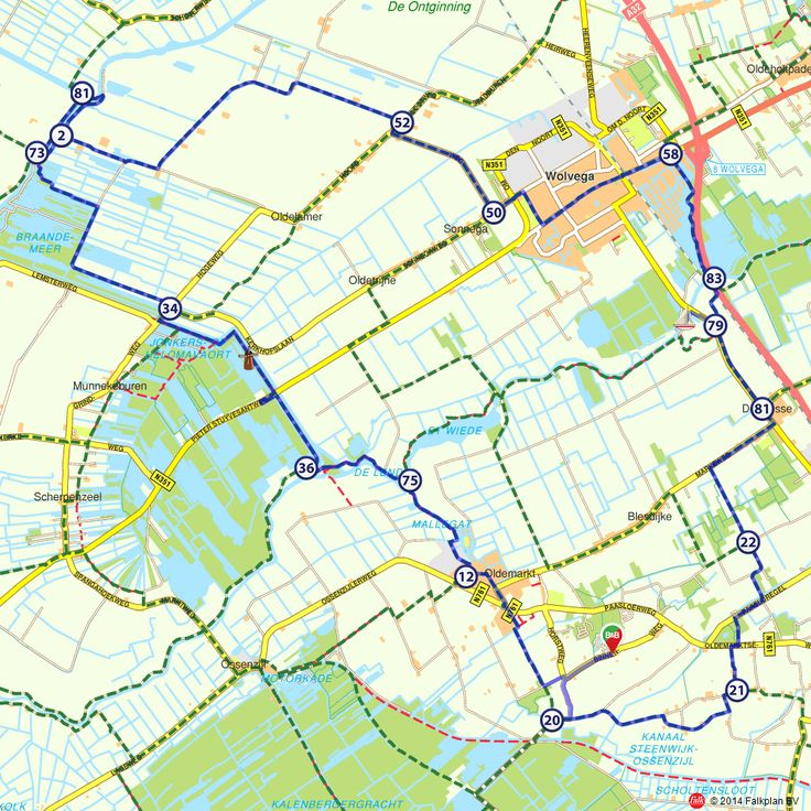 Fietsroute: Route langs Wolvega (http://www.route.nl/fietsroutes/138259/Route-langs-Wolvega/)