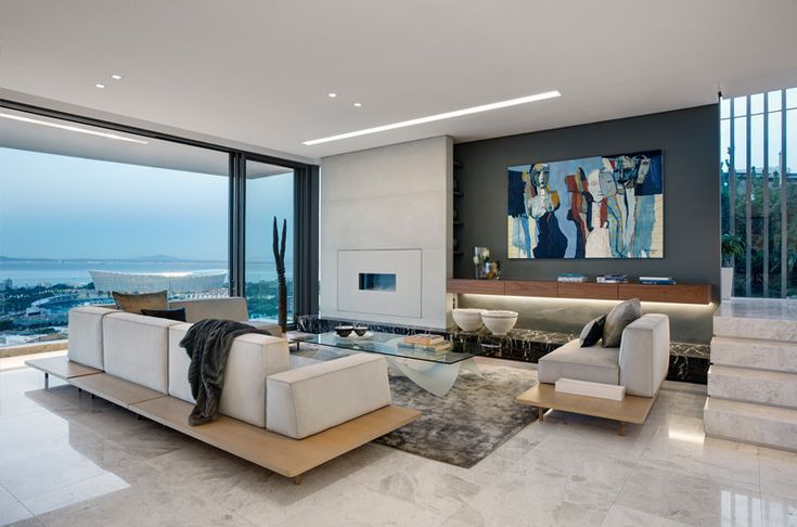 Modern family home in Green Point, Cape Town, South Africa. By Three14 Architects #Three14Architects #KimBenatar #SianFisher