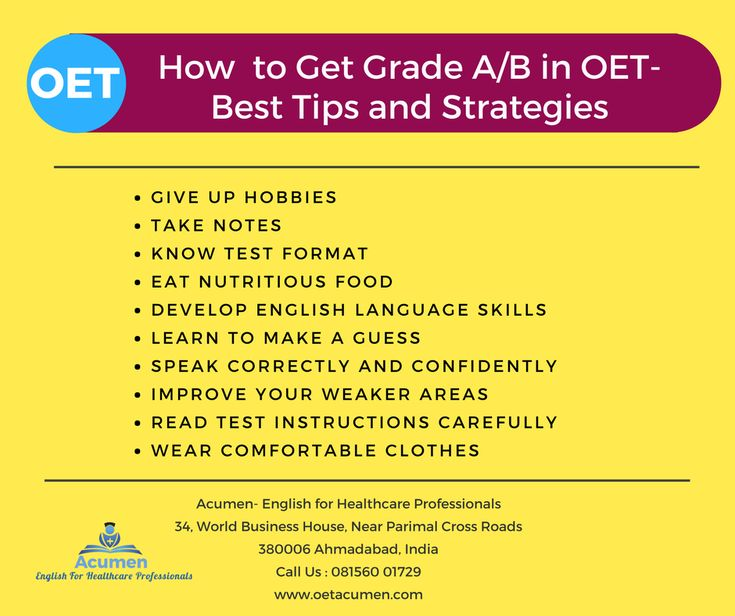 How to Get Grade A/B in OET- Best Tips and Strategies from #OET #Acumen