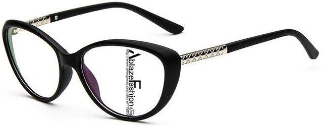 HsAblaze Eyewear Brand Women Optical Glasses Frame Cat Eye Eyeglasses Anti-radiation Anti-fatigue Computer Glasses nerd Oculos