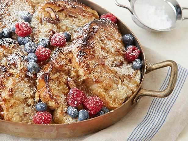 Overnight French Toast Casserole  #RecipeOfTheDayMornings Breakfast, Food Network, Coconutalmond French, Christmas Morning, Casseroles Recipe, Coconut Almond French, Overnight French Toast, Frenchtoast, French Toast Casseroles