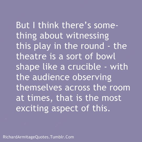 Re: The Crucible Interview with Chris Harvey for The Telegraph Jun 25, 2014 X