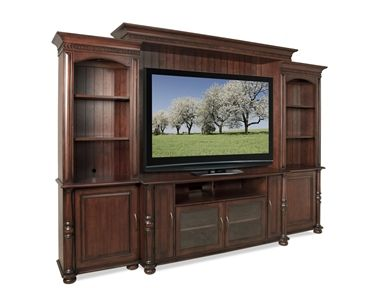 Shop For Riverside 63u0027u0027 TV Console, 65640, And Other Living Room Tables At Stacy  Furniture In Grapevine, Allen, Plano, TX. Two Outside Doors Each Enclose An  ...
