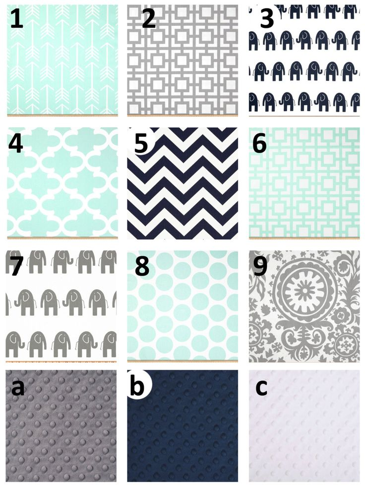 Mint Gray Navy Crib And Toddler Nursery And By