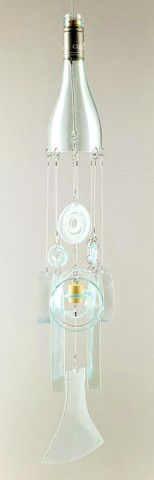 Ice Capades Glass Wind Chimes