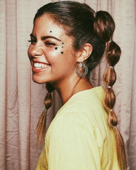 instead of face glitter   stars festival make up glitter mimi lashery