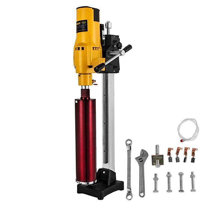 Orangea 8 Inch Diamond Core Drilling Machine 3980w 750r Min Diamond Core Drill Rig With Stand And Tools Wet Dry Core Drilling Machine Drilling Rig Wet And Dry