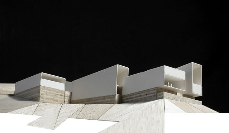 Matos & Castillo - ARCHEOLOGICAL MUSEUM IN FOZ-COA. PORTUGAL. COMPETITION, architectural model