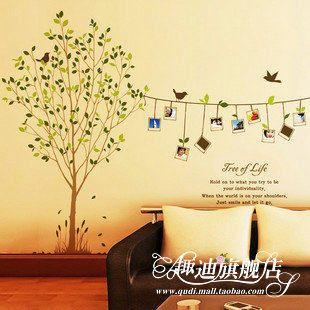 趣迪 墙贴照片树回忆 大型电视背景墙客厅沙发墙 卧室照片贴纸-tmall.com天猫39