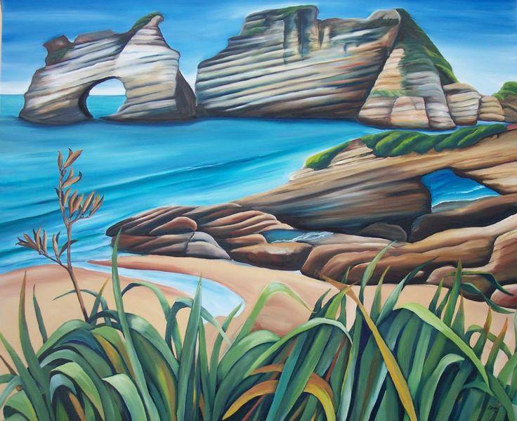My auntie Sage Cox (NZ based painter)