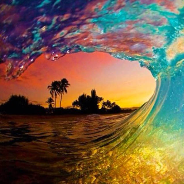 Sunset wave WIN!!Theocean, Colors, The Ocean, Beautiful, Ocean Waves, Best Quality, Beach, Mother Nature, The Waves