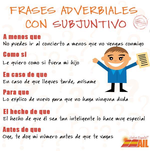Frases adverbiales con subjuntivo http://ailmadrid.tumblr ...