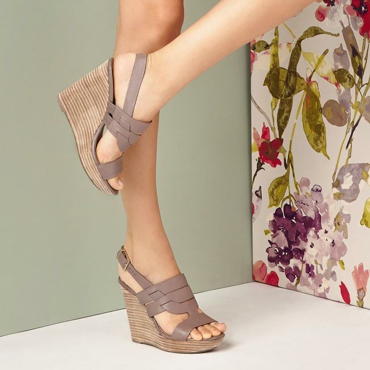 ~~~favorite platform wedge of the season. Gorgeous dark taupe color. Ask you stylist for shoes like these in your next fix! Stitch fix spring. Stitch fix shoes #affiliatelink