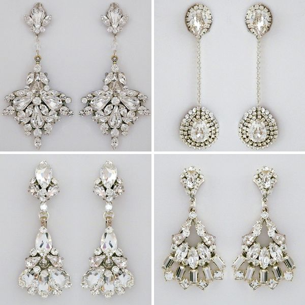 gorgeous gems from @PerfectDetails.com Designer Bridal Store http://ruffledblog.com/perfect-details-wedding-accessorie #jewelry #earrings #bridal