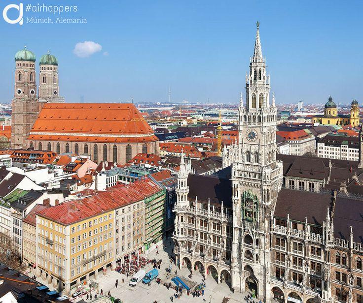 Múnich, Alemania. #Viajes #Travel #Munich #Alemania #Airhopping #Airhoppers #Interrail #Avión #Viaje #Viajar #World #Sol #Casas #Inspiración #Viajeros #Europa #Mundo