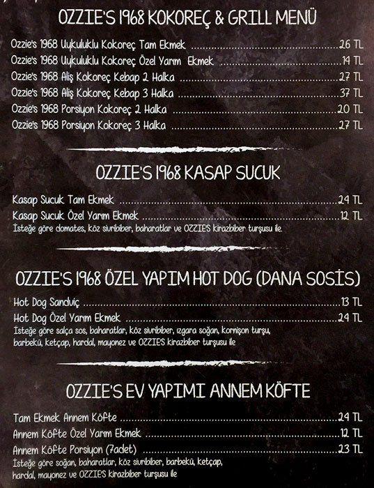 Ozzie's Kokoreç, Dolapdere Menü  Telefon 0212 3619123 Mutfak türü Sakatat Hesap  Ortalama ₺35 iki kişi için (ortalama) Nakit ve kredi kartı kabul edilir. Çalışma saatleri Bugün  10:30 - 21:00 Adres Bülbül Mahallesi, Serdar Ömerpaşa Caddesi, No 44, Beyoğlu, İstanbul