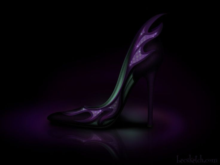 Maleficent Inspired Shoe - Disney Sole by ~becsketch