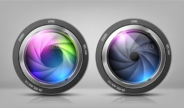Vector Set with Camera Lenses Set, Vector, Lenses,