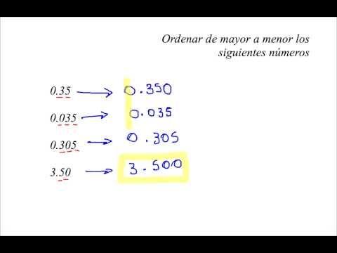Ordenar Decimales 1 - YouTube