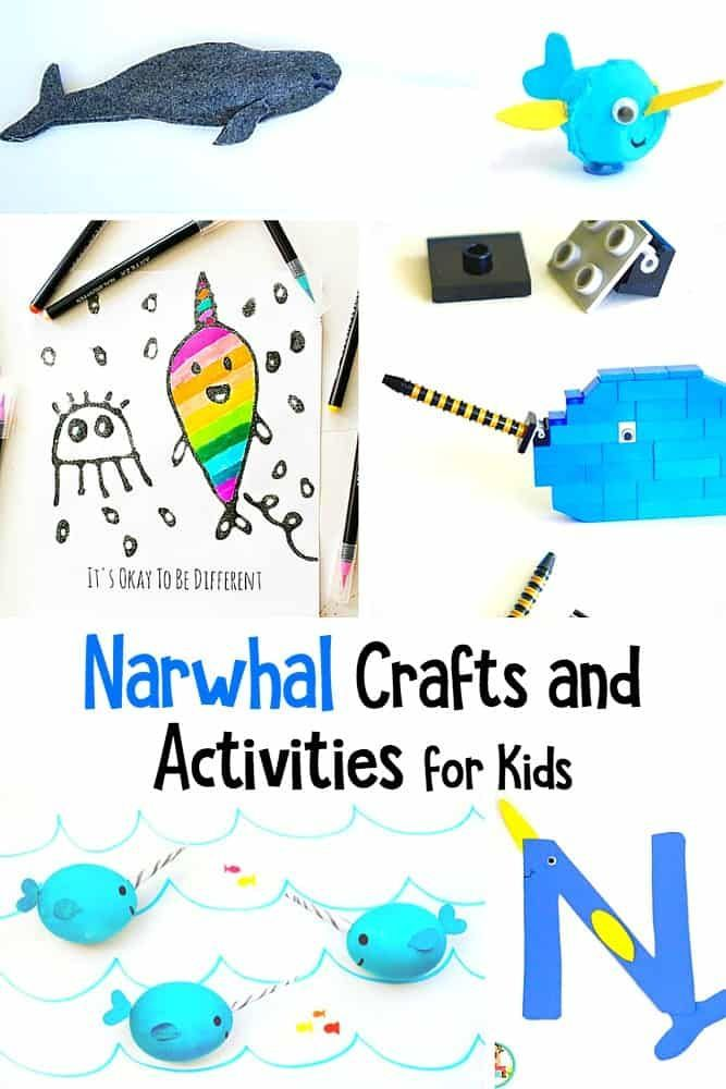 10 Adorable Narwhal Crafts For Kids Crafts For Kids Craft