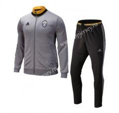 2016-17 Juventus Gray Thailand Soccer Jacket Uniform