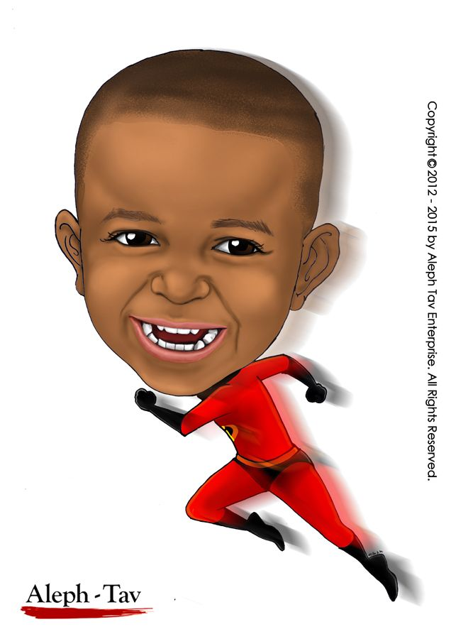 """Incredibles"" Kids caricature. To order your digital caricature gifts, visit : https://www.etsy.com/shop/AlephTavgiftshop #AlephTavart #anniversary_gifts #art #birthday_gifts #caricature #celebration #christmas #gift_ideas #gifts #unique_gifts #wedding_gifts #corporate_gifts #family_portrait #portraits #presents #baby #babies #kids #children"