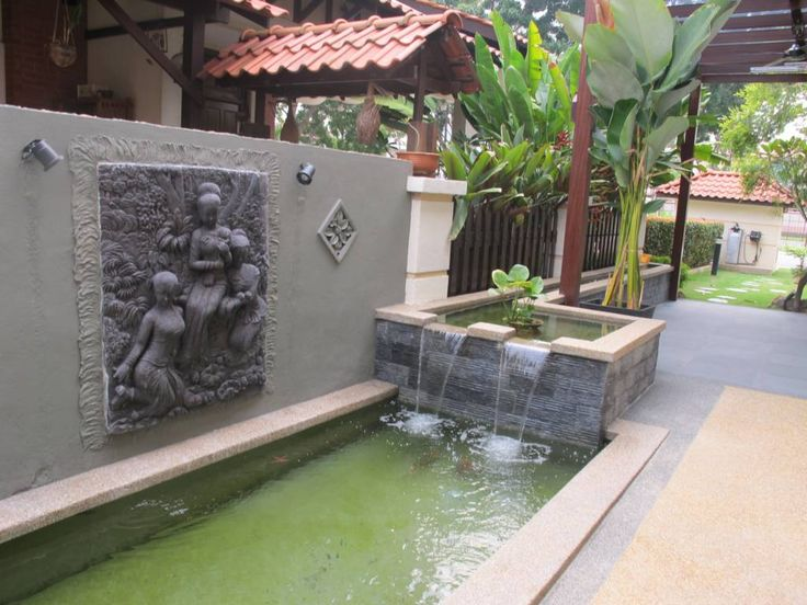 Koi pond design malaysia fountain design trading for Fish pond fountain design