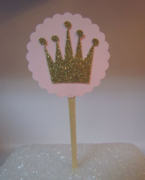 Crowns For Baby Shower: 12 Pink Gold Crown Tiara Princess Birthday Party Baby