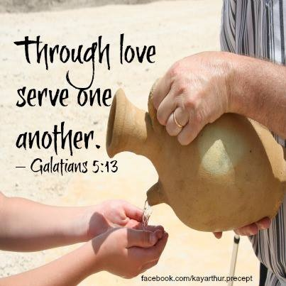 Galatians 5:13 Look for ways to cheerfully serve others. It might be a neighbor in your neighborhood needs some work done or bring them some baked goods or groceries. Go  & be a blessing.: