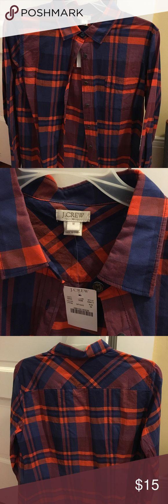 J Crew Factory Women's button down shirt. NWT J Crew Factory Women's Plaid Burton down. New with tags! J. Crew Factory Tops Button Down Shirts