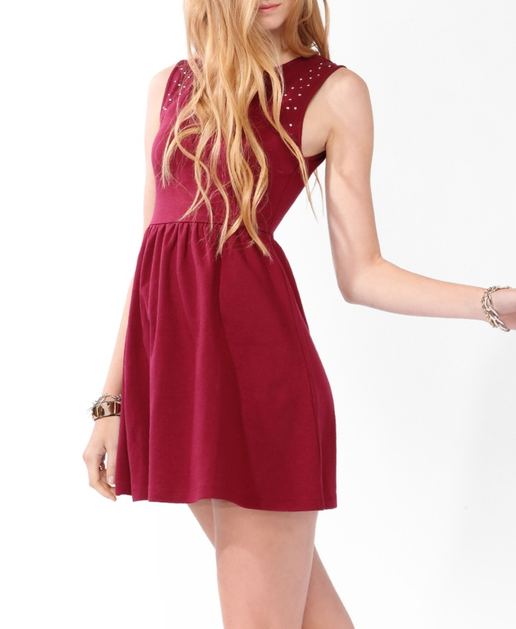 Skater vestido tachonado | Forever21 - 2025440426