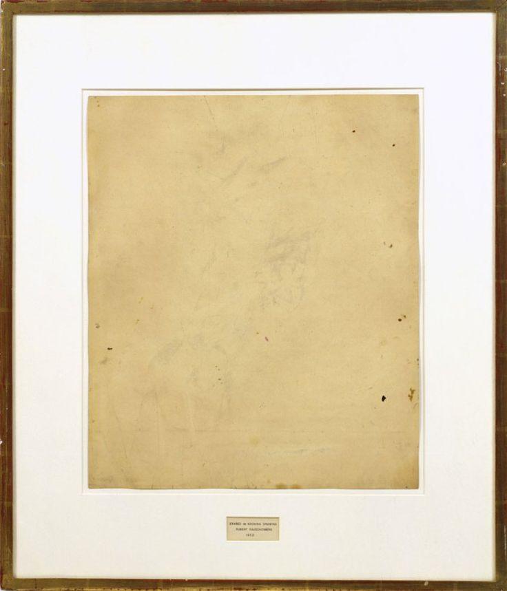 Erased de Kooning Drawing - Robert Rauschenberg