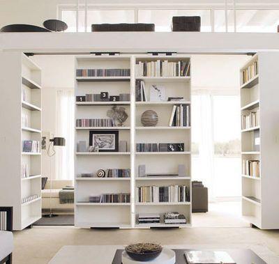 Sliding Door Bookcases For Secret Room Storage E